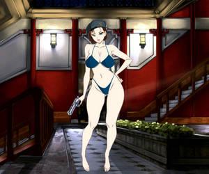 jill valentine Resident Evil sexy bikini  by viperzone