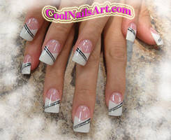 Nail Design Stripe Me Up Baby by thientu83