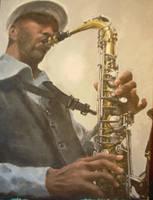 the sax man by eyesforthemoon
