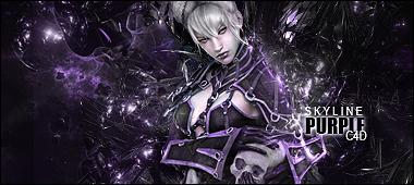 Purple C4D by SkyLinee