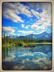 Canoeing - Kananaskis by lunacatd