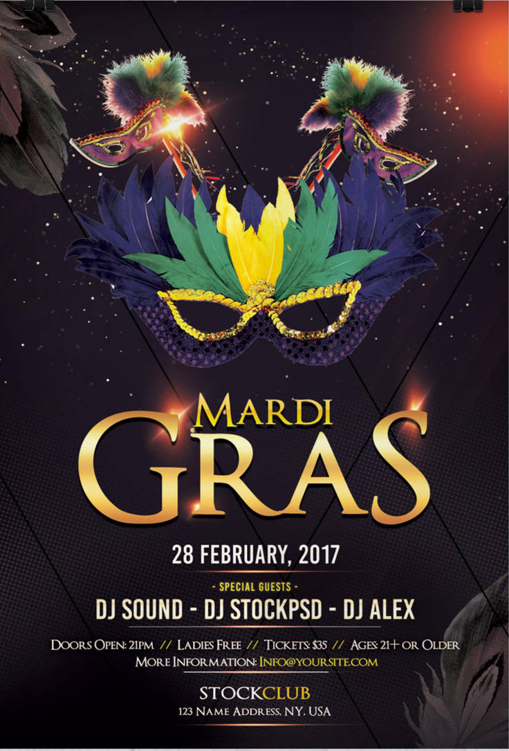 Mardi Gras Download Free Psd Flyer Template By Stockpsd On Deviantart