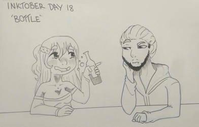 Inktober Day 18 - Bottle by GraceysWorld