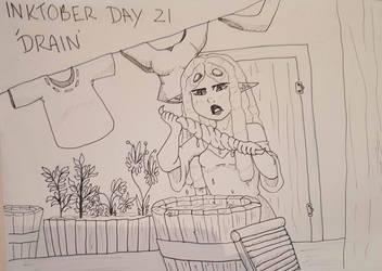 Inktober Day 21 - Drain by GraceysWorld