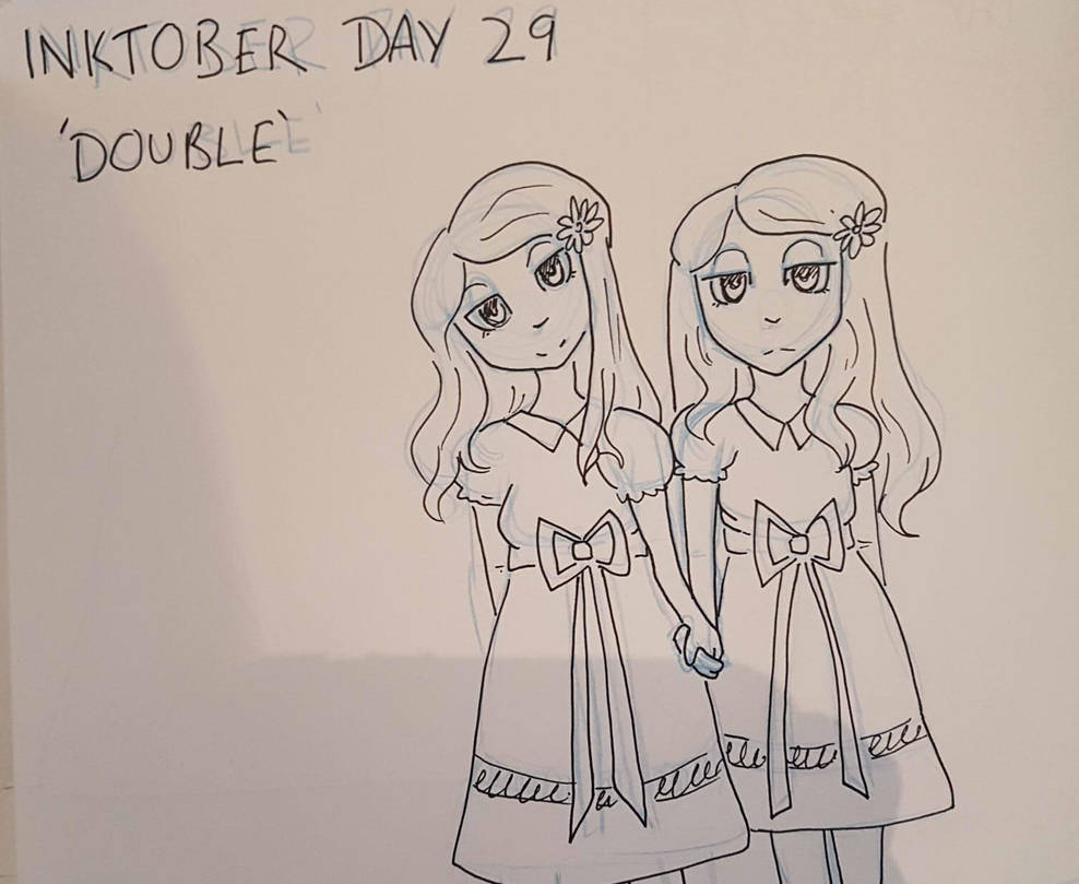 Inktober Day 29 - Double by GraceysWorld