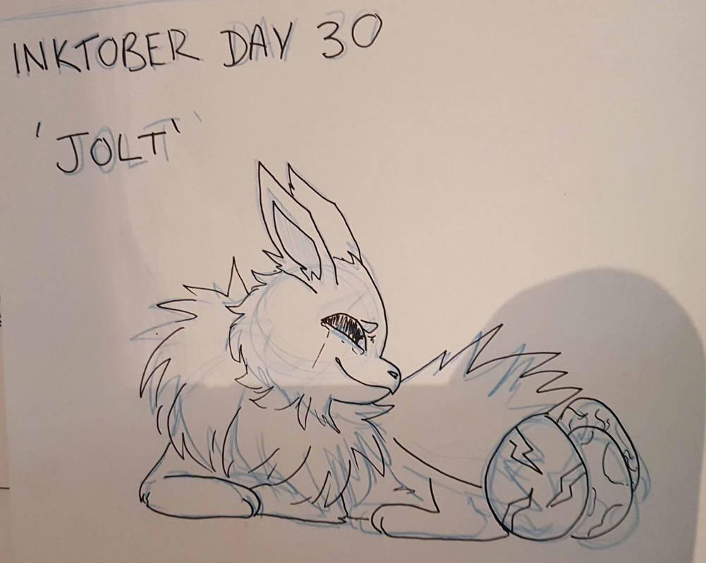 Inktober Day 30 - Jolt by GraceysWorld