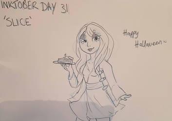 Inktober Day 31 - Slice by GraceysWorld