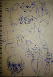 The first page of my first sketchbook. by Cestarian