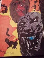 My Godzilla in hell cover artwork. by Shin-Ben