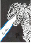 Godzilla Resurgence drawing. Scanner Quality. by Shin-Ben