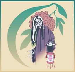 Peony Lantern Ghost by sweetvillain
