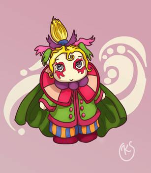 Chibi Kefka coloured by sweetvillain