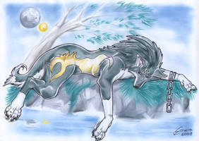 .:OLD ART: Wolf Link:. by sowia