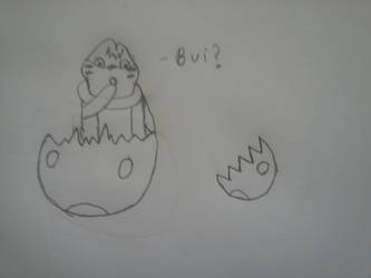 Hatching Bui by akamaru52192