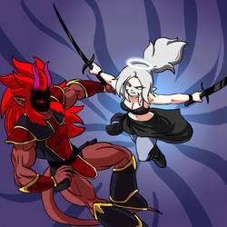 Demonic Puga vs Zero Platinum by TerryRed