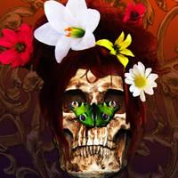 Psychedelic Skull by MsAllisonIvy