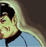 Spock Smiling by SpockGlocksRocks