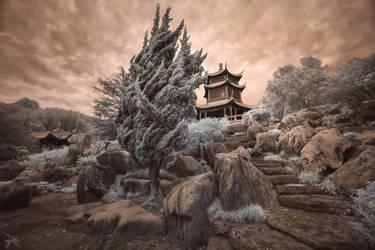 Pagoda at Dusk - Infrared by SteveCampbell
