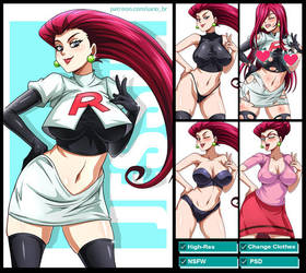 Jessie (Pokemon) PACK by Sano-BR
