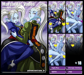Marcarita and Vados (Dragon Ball Super) PACK by Sano-BR