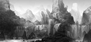 waterfall by molybdenumgp03