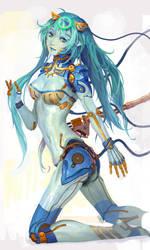blue robot by molybdenumgp03