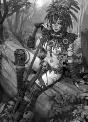 savage girl by molybdenumgp03