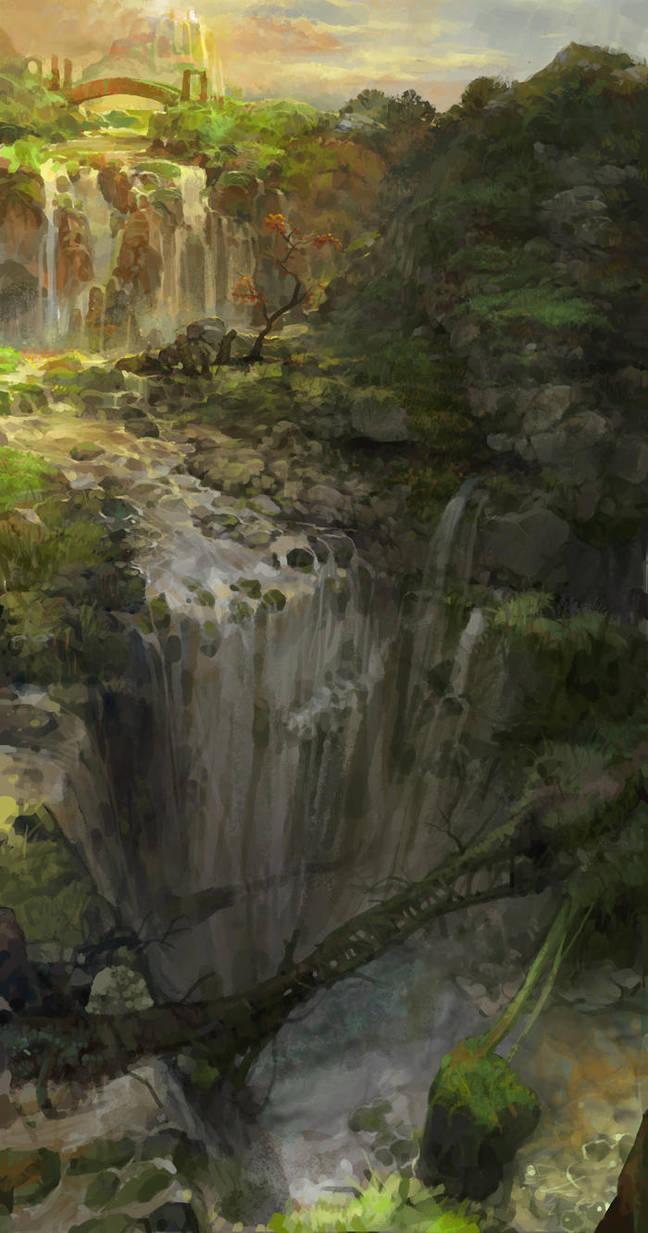 heavenly waterfall by molybdenumgp03