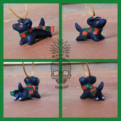 Black Labrador Ornament by starwolf303