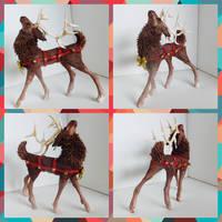 Full Size Reindeer Sculpture by starwolf303