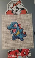 Totodile Cross stitch by SasukePrismaColor