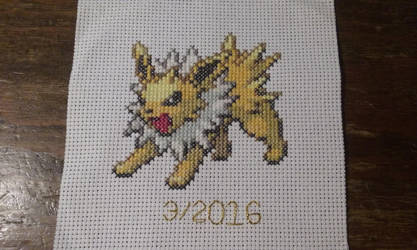 Jolteon Cross Stitch by SasukePrismaColor