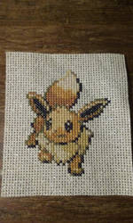 Eevee Cross stitch by SasukePrismaColor