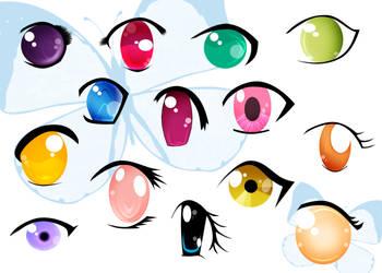 Anime Eyes by AngelRachelle