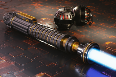 Lightsabre and Grenades by SteveReeves