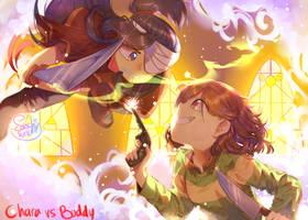 Chara vs Buddy by Sansurichin