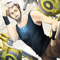 Tony Stark: Working Mode by Breetroad
