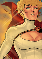 Request: Power Girl by BleedingHeartworks