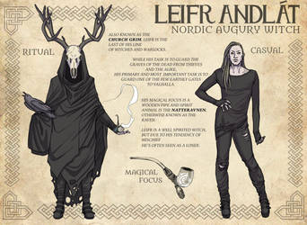 [COVEN]: Leifr Andlat (Character Sheet) by BleedingHeartworks