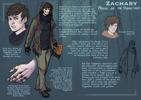 Zachary The Proxy [Character Sheet] 2016 by BleedingHeartworks