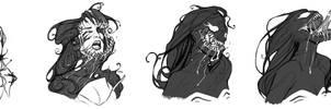 [Commission]: She-Venom Transformation by BleedingHeartworks