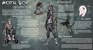 [Creepypasta]: MOTH BOY REFERENCE SHEET by BleedingHeartworks