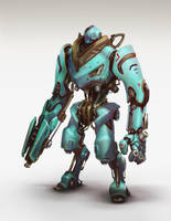 Multiplayer Arena: Robot concept by Mikeypetrov