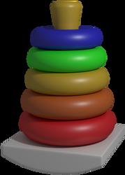 Rock-a-Stack Model Render by LuxoVeggieDude9302