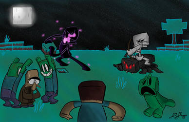 A Typical Night in Minecraft by RedBlooper