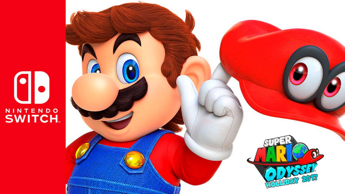 Nintendo Switch X Super Mario Odyssey Wallpaper By