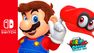 Nintendo Switch x Super Mario Odyssey Wallpaper by SonicAlexanderDX97