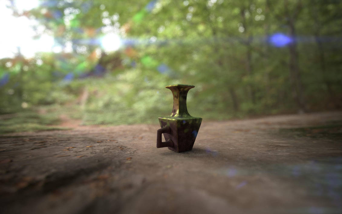 Vase in the Forest by Volcanic-Penguin