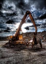 lonesome excavator by derfabo