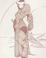 Draenei Paladin Lady by Iseijin